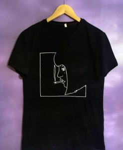 Unisex Black Smoking Girl t Shirt AY