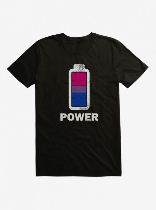 i-Create Pride Bisexual Power Up T-Shirt AY