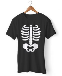 Baby Skeleton Halloween Costume Gildan Man's T-Shirt AY