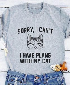 Plans With Cat T-shirt AY
