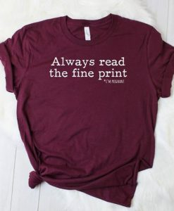 always read tshirt AY