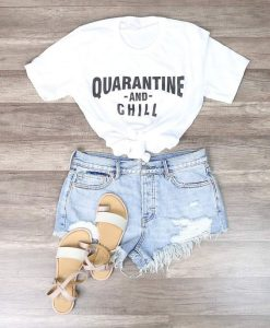 Distracted - Quarantine and Chill Funny Graphic AY