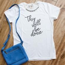 Thy Will Be Done Ladies Short Sleeve Shirt AY