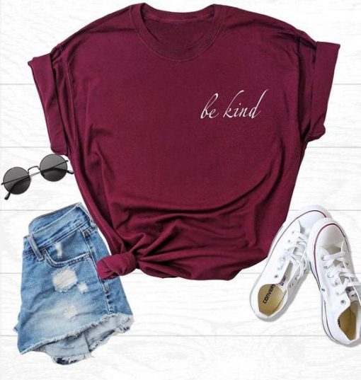 BE KIND RED TSHIRT AYBE KIND RED TSHIRT AY