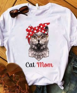 Cat Mom t shirt AY