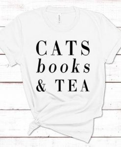Cats books & tea sweatshirt cat tshirt AY