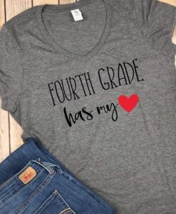 Fourth Grade Teacher Shirts, Back to school shirt, Teacher T shirt, AY
