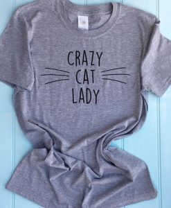 Personalised Crazy Cat Lady T Shirt AY
