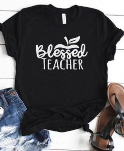 Blessed Teacher t shirt AY