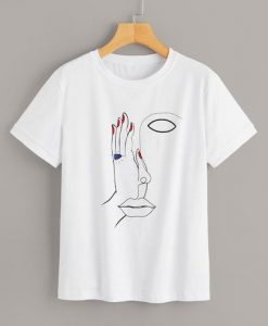 Abstract Figure Face T Shirt AY