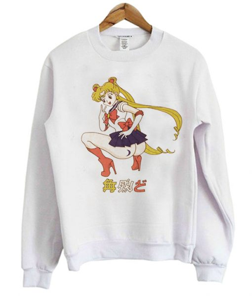 Sailor Moon Peace Sign Graphic Sweatshirt