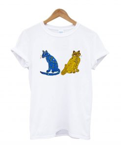Abba Blue and Yellow Cat T-Shirt